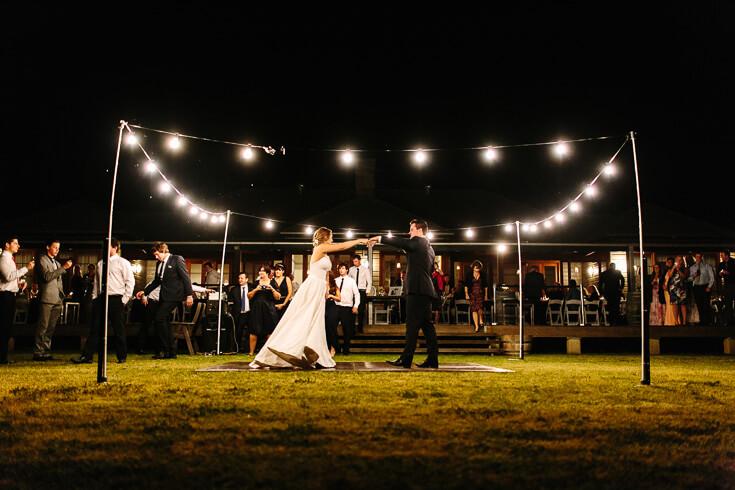 Dancefloor festoon lights