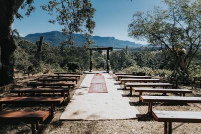Rustic Timber Bench Seats