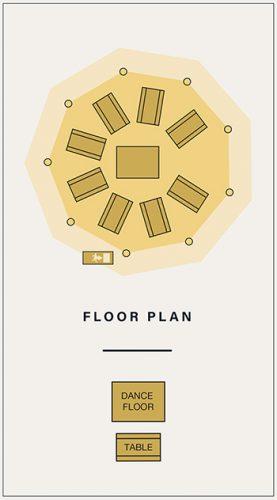 Single Tipi Floor Plan